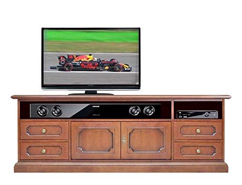 Porta Tv Legno Classico.Mobile Porta Tv In Stile Classico In Legno Con Vani Per Soundbar