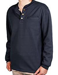 Men's Sherpa Lined Warm Winter Thermal Henley