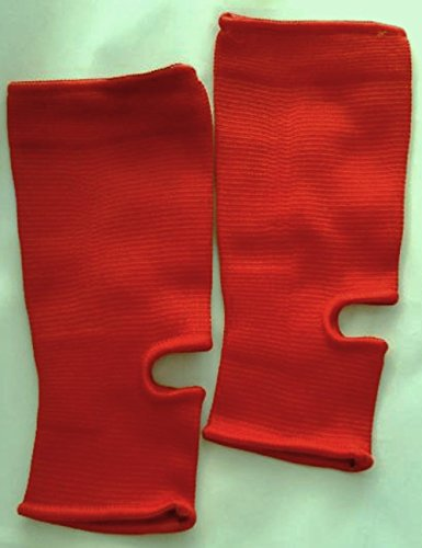 Women's Ankle Support Compression Sleeve - 1 Pair - Great for Sports or Everyday Wear. 4 Colors (Large, Red)