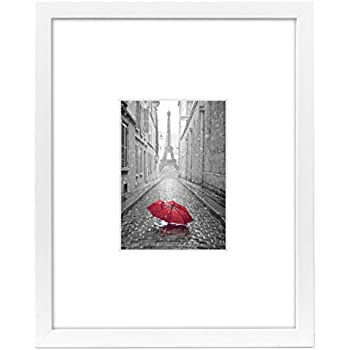 Amazon.com - 11x14 White Picture Frame - Matted to Fit Pictures 5x7 ...