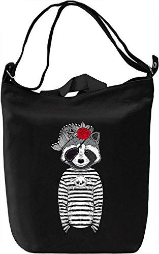 Pirate racoon Borsa Giornaliera Canvas Canvas Day Bag| 100% Premium Cotton Canvas| DTG Printing|