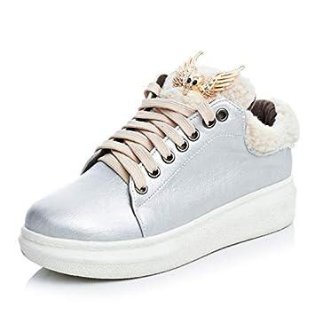 Zapatos de mujer de piel sintética Fall & Winter Comfort Sneakers Zapatos para caminar Botines de