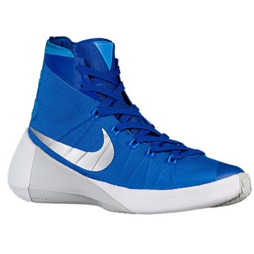 NIKE Men's Hyperdunk 2015 Basketball Shoe (9 D(M) US, Game Royal/Metallic Silver/Blue Hero)