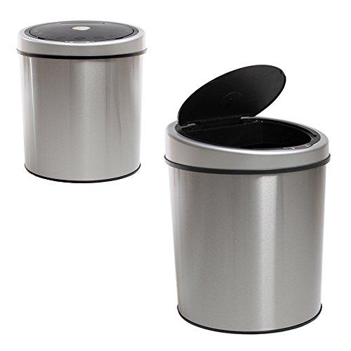 Tectake 30 litros papelera cubo basura sanitario inox con - Cubo de basura con sensor ...