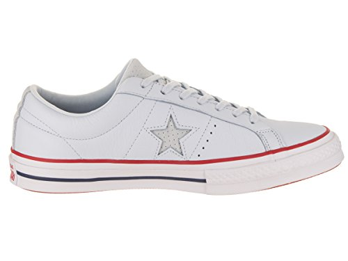 Mens gym white One Star Ox Tint Blue Converse Trainers Red Leather BqadWZan