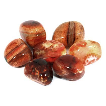 Fire Agate Tumble Stone (25-30mm) Single Stone
