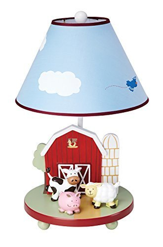 Kids Light Guidecraft Farm Friends Table Lamp by Nursery Lamps