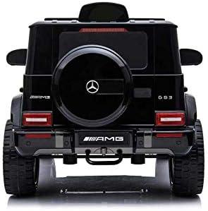 noir Version /électrique pour enfants officiel avec licence 12 V Batterie avec t/él/écommande 2,4 GHz Ports ouvrables avec MP3 Babycar Mercedes G63 AMG