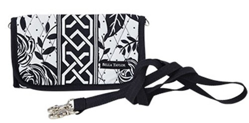 Bella Taylor Rose Pop Quilted TriFold Wallet ()