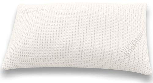 Snuggle-Pedic Supreme Plush Ultra-Luxury Hypoallergenic Bamboo Shredded Gel-Infused Memory Foam Pillow Combination with Adjustable Fit & Zipper Removable Kool-Flow Cooling Pillow Cover (King) ()