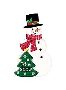 Amscan–grande de pie muñeco de nieve Easle Sign