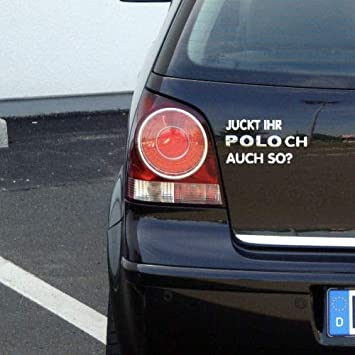 MS Car Sticker Juckt Ihr Polo ch auch so? Fun Aufkleber fü r VW Polo (Chrome)