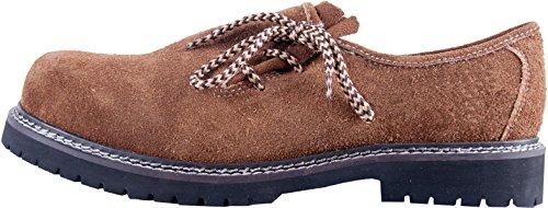 Almwerk Herren Trachtenschuh aus echtem Leder, Schuhgröße:EUR 43;Farbe:Hellbraun