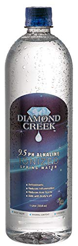 - Diamond Creek 9.5pH Alkaline Ionized Spring Water, 1 Liter Bottles (12pk)