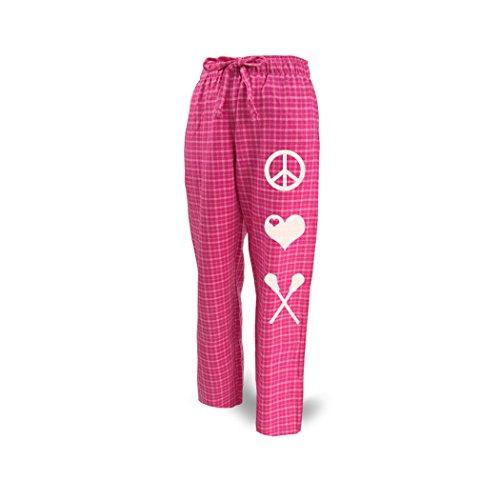 ChalkTalkSPORTS Lacrosse Lounge Pants Peace Love Lacrosse Pink