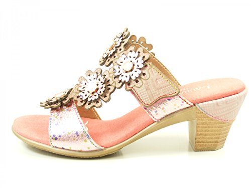Laura Vita SL3063-4A Bettino 04 Zuecos fashion de cuero mujer Rosa