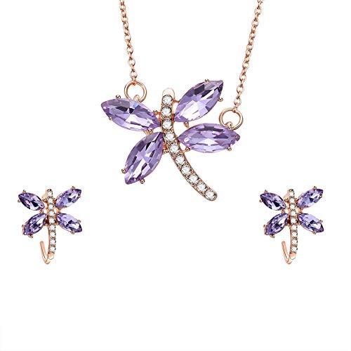 Rhinestone Dragonfly Jewelry S...