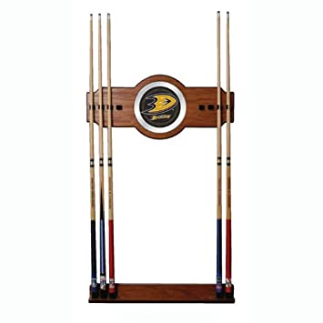 Amazon.com: NHL Two-Piece Madera y espejo de pared Cue rack ...