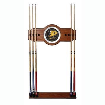 Amazon.com: NHL Two-Piece Madera y espejo de pared Cue rack ...