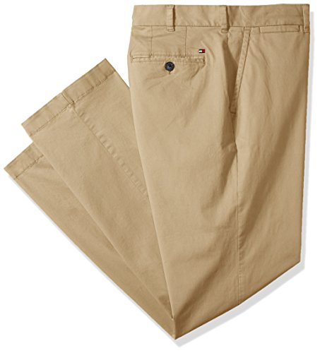 (Tommy Hilfiger Men's Big and Tall Classic Fit Stretch Chino Pants, Mallet, 46X30)