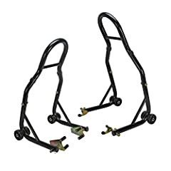 Lifting your sport bike for maintenance or storage is easier than ever with the Sport Bike Motorcycle Front and Rear Lift Stand from Extreme Max Products. Consisting of two individual lifts that work separately or as a unit, the front lift st...