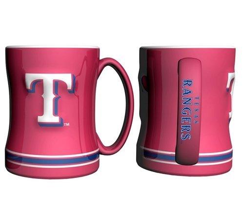 Rangers Coffee Mug (Texas Rangers Coffee Mug - 15oz Sculpted, Red)