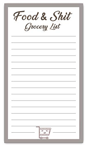Mother's day gift for mom funny Mother's day gifts for women magnetic back grocery shopping list notepad (Grocery) ()