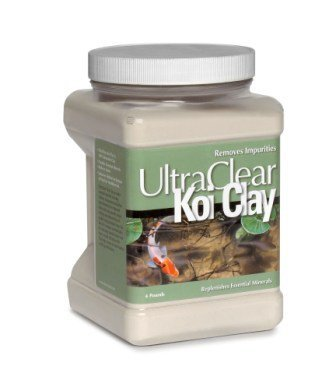 UltraClear Koi Clay 4 Pound Container (Koi Treatment)