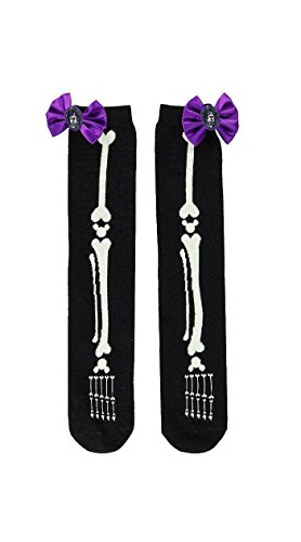 Disney Parks Minnie Mouse Halloween Costume Bones Socks Womens One Size