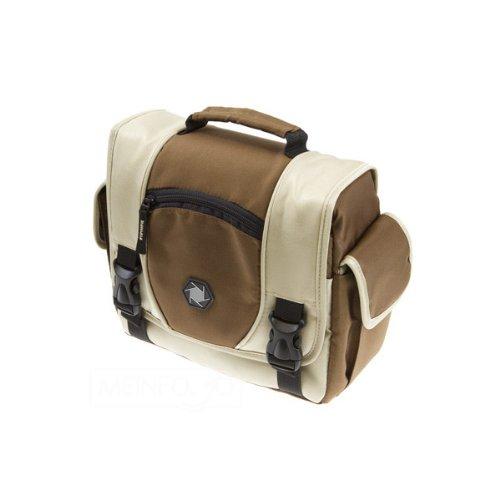 Delamax Fototasche DelaBag S in braun/beige passend für z.B. DSLR-Kamera, Objektiv, Blitzgerät und Kleinutensilien