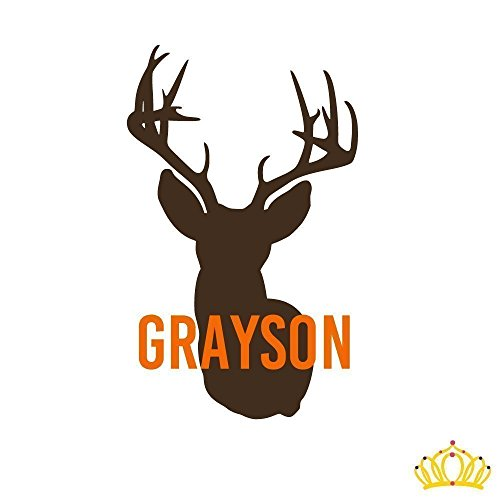 Personalized Deer Hunting Vinyl Decal Sticker with Name for Car Truck Tumbler...