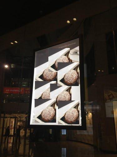 GOWE Super Slim dos lados para colgar marco de aluminio y tapa publicidad led caja de luz tamaño: 27