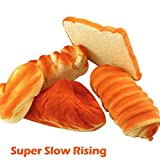 5pcs-Simulated-Bread-Set-Scented-Toy,Slow-Rising-Kids-Gift-Fun-Stress,Relief-Toy-Squishies-Packs-Funny-Adult,Stuffers-Girls-Kid-Picks-Part-Favors, Toys-For-3-Year-Old (Orange)