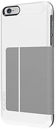 buy popular bebef 0c169 iPhone 6S Plus Case, Incipio Highland Premium Folio [Credit Card] Wallet  Folio fits iPhone 6 Plus, iPhone 6S Plus -White/Gray