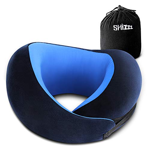 Shizzz Travel Pillow, Neck Pillow for Airplane Travel Memory Foam Chin Protective Pillow Supporting Kit for Camping, Backpacking, Airplanes and Road Trips -