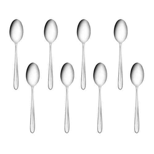 Flatasy Stainless Steel Wave Flatware Tea/Coffee Spoon, Set of 8,Use for Home,Kitchen or Restaurant,6.4 Inches