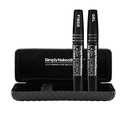 Best 3D Fiber Lash Mascara By Simply Naked Beauty Last All Day Waterproof Smudge Proof Hypoallergenic Ingredients Non Toxic And Natural Midnight Black