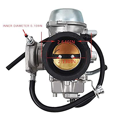 labwork Carburetor Fit for Yamaha Grizzly 600 660 YFM600 YFM660 ATV and Intake Manifold Boot: Automotive