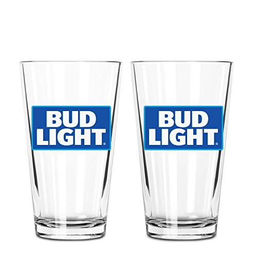 Bud Light 2-Pack Glass Pint, 16oz