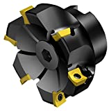 Sandvik Coromant R590-063Q22S-11M CoroMill Century Square Shoulder Milling Cutter, Steel, Screw Clamp, Right Hand, 22mm Arbor, 63mm Cutting Diameter x 40mm Overall Length, 11 Insert Size, 5 Close Pitch