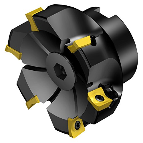 Sandvik Coromant R590-063Q22S-11M CoroMill Century Square Shoulder Milling Cutter, Steel, Screw Clamp, Right Hand, 22mm Arbor, 63mm Cutting Diameter x 40mm Overall Length, 11 Insert Size, 5 Close Pitch by Sandvik Coromant