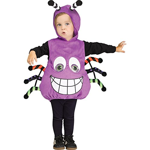 Purple Spider Googly Eyes Infant Costume White 6M-24M (Spider Eyes Costume)