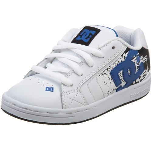 DC Kids Net Special Edition Skate Shoe (Little Kid/Big Kid),White/Royal/Black,3 M US Little Kid