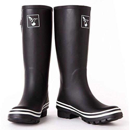Womens Wellington Plain Black Boots Evercreatures aqYwH4