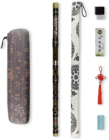 Color : Black C Key DFSM Flute Traditional Musical Instruments Bamboo Dizi Flute for Beginner C D E F G Key Transverse