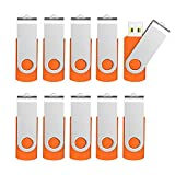 Kootion 10 X 16 GB USB Flash Drive 16 gb Flash Drive Thumb Drive Memory Stick Pen Drive Keychain Design Orange