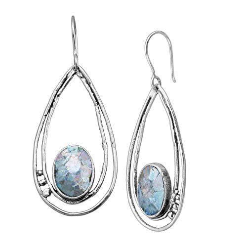 Silpada 'Salernum' Roman Glass Drop Earrings in Sterling Silver ()