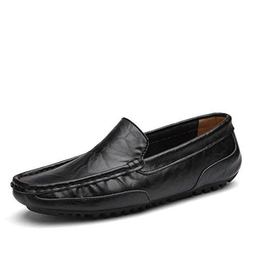 Pour Confortables Les Des Et GRRONG Hommes Respirantes Pour Conduite Douces De Noires Les Chaussures Chaussures Black Forment Loisirs ZwpZOq46