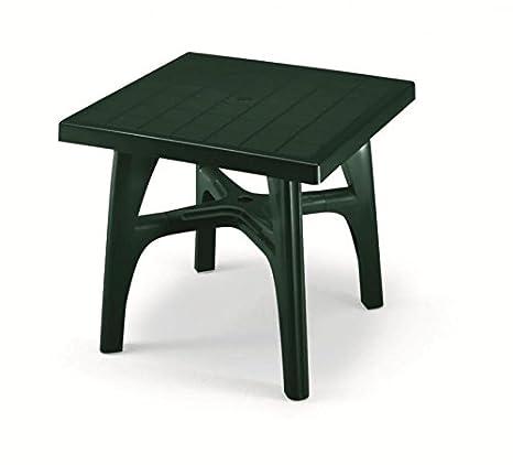Tavoli Da Giardino In Resina.Ideapiu Tavolo Da Giardino Quadrato Per Esterno Smontabile Tavolo