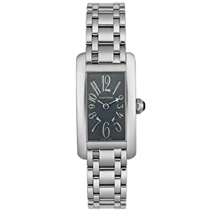 Cartier Women's W260051L1 Tank Americaine 18K Solid White Gold Watch